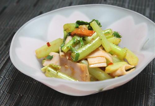 大根の葉とハムのピリ辛味噌和えレシピ