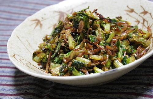 大根の葉と干しエビのピリ辛炒めレシピ