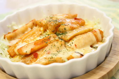 今日のキムチ料理レシピ:大根キムチのチーズ焼き