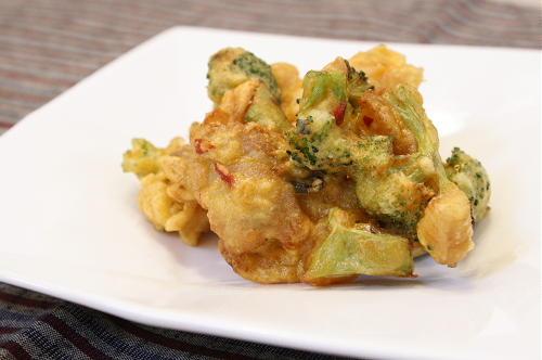 大根キムチと豚肉のかき揚げレシピ