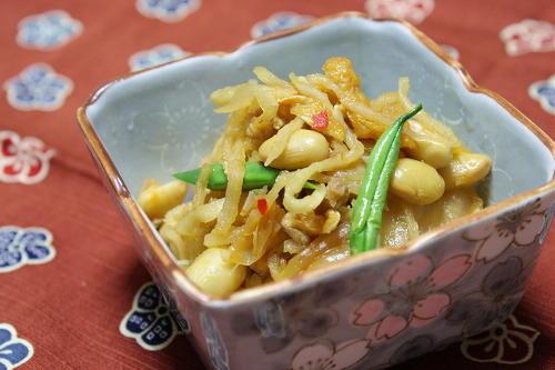 今日のキムチ料理レシピ:切り干し大根と大豆のキムチ煮