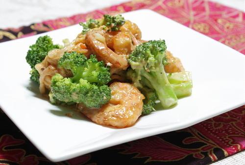 ブロッコリーとエビのキムマヨ和えレシピ