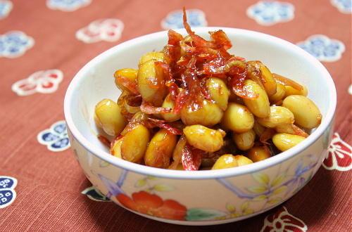 今日のキムチ料理レシピ:大豆のピリ辛煮