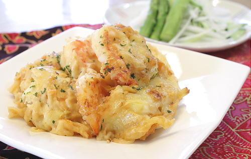今日のキムチ料理レシピ:エビキムチグラタン