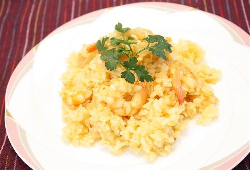 今日のキムチ料理レシピ:海老キムチピラフ
