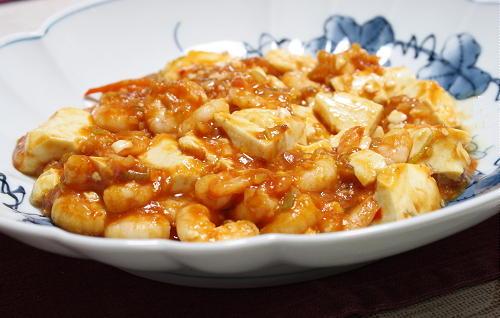 キムチの素deエビチリ豆腐レシピ