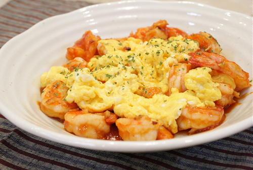 エビと卵のチリソースレシピ
