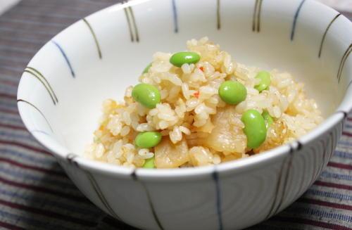 今日のキムチ料理レシピ:枝豆キムチご飯
