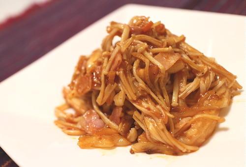 今日のキムチ料理レシピ: エノキとキムチのケチャップ炒め