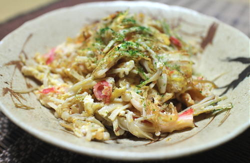 今日のキムチレシピ:エノキとかにかまの卵炒め