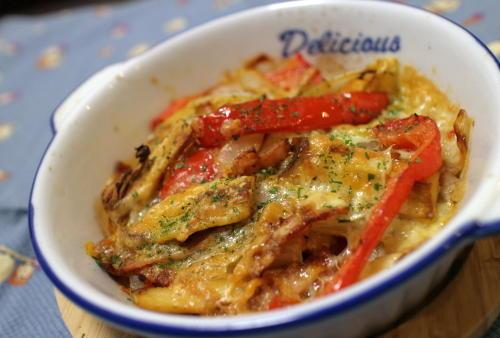 今日のキムチ料理レシピ:エリンギとキムチのチーズ焼き
