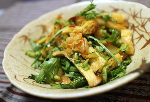 今日のキムチレシピ:春菊とエリンギのキムチ和え