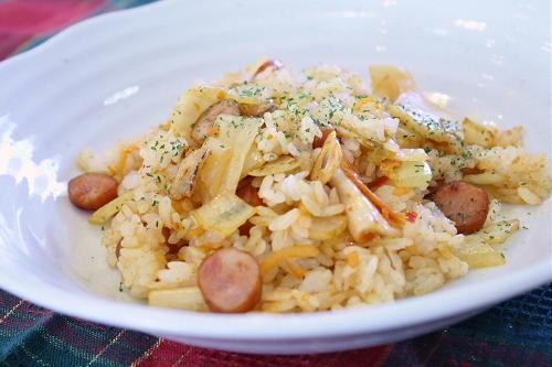 今日のキムチ料理レシピ:ガーリックキムチライス
