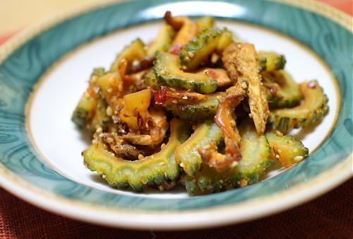 ゴーヤとキムチの甘辛煮レシピ