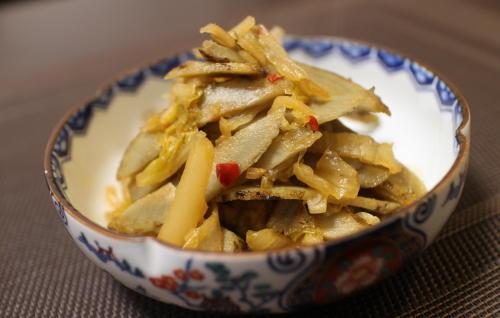 今日のキムチ料理レシピ:ごぼうのキムチ煮