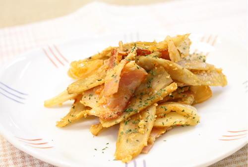 今日のキムチ料理レシピ:ごぼうとキムチのチーズ焼き