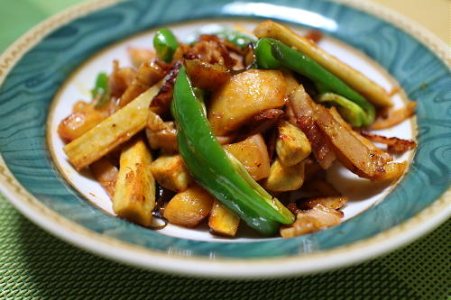 ごぼうと大根キムチの炒め物レシピ