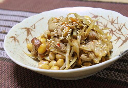 ごぼうと大豆のピリ辛煮レシピ