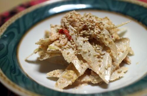 今日のキムチレシピ:ごぼうとキムチのマヨ和えサラダ