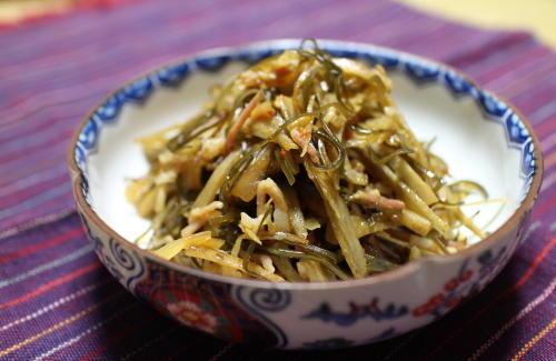 今日のキムチレシピ:ごぼうと昆布のキムチ煮