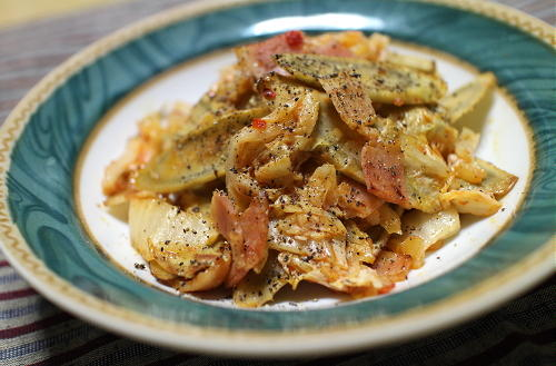 今日のキムチレシピ:ごぼうのキムチ炒め
