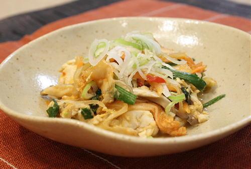 今日のキムチ料理レシピ:五目キムチ炒り豆腐