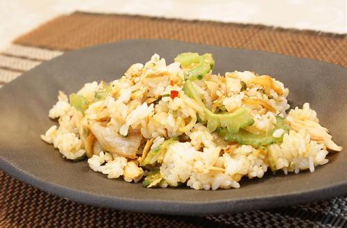 今日のキムチ料理レシピ:ゴーヤとツナのキムチチャーハン