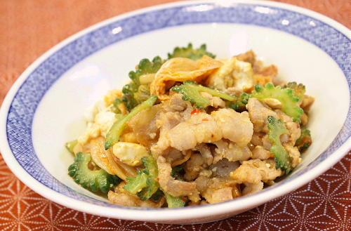 今日のキムチ料理レシピ:キムチゴーヤチャンプル