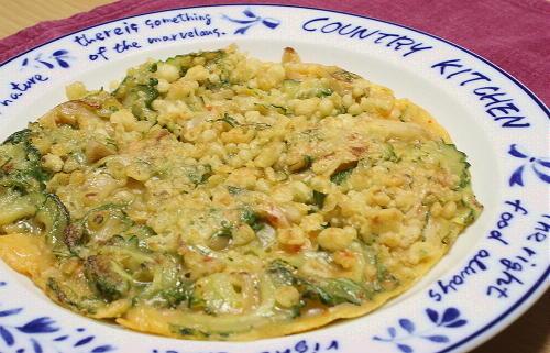 今日のキムチ料理レシピ:カリカリゴーヤキムチチヂミ