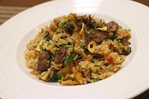 今日のキムチレシピ:牛肉キムチチャーハン