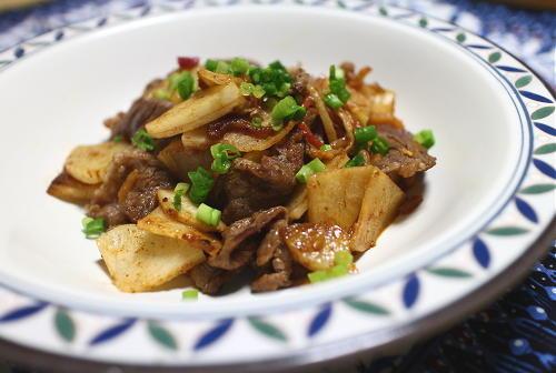 今日のキムチレシピ:牛肉と大根の甘辛キムチ炒め