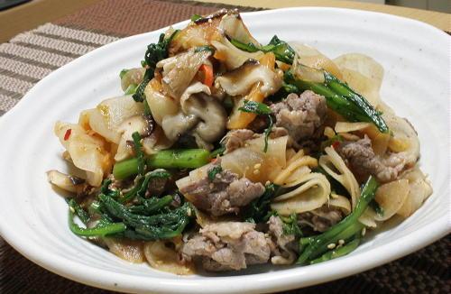 今日のキムチ料理レシピ:牛肉と大根のキムチ和え