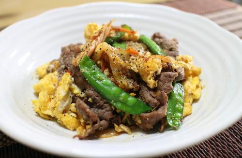 今日のキムチレシピ:牛肉とキムチの卵炒め