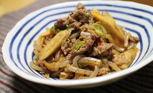今日のキムチレシピ:牛肉とつきこんのキムチ煮