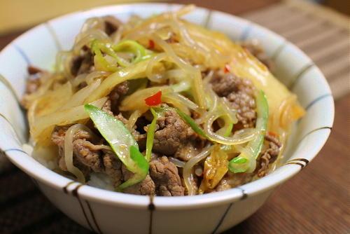 今日のキムチレシピ:牛キムチ丼