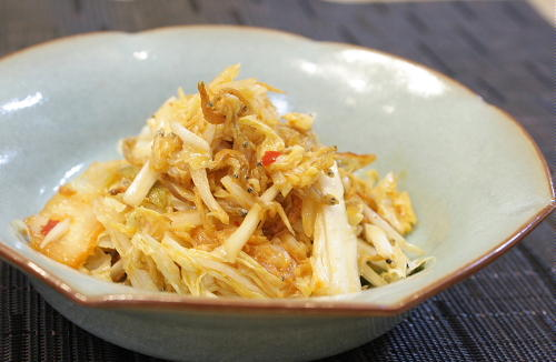 今日のキムチ料理レシピ:じゃことキムチのポン酢和え