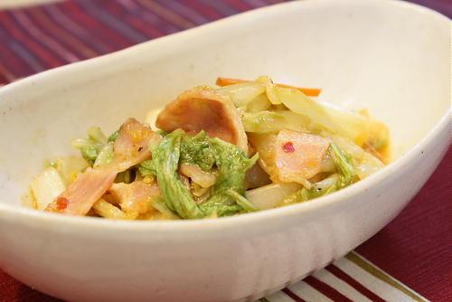 白菜のピリ辛チーズいためレシピ
