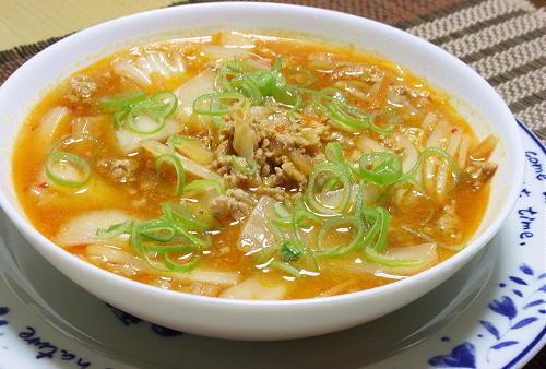 今日のキムチ料理レシピ:白菜と豚ひき肉のピリ辛煮
