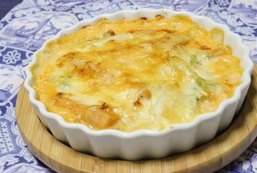 白菜とシーフードの簡単キムチグラタンレシピ