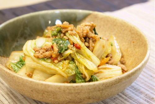 白菜とひき肉のピリ辛炒めレシピ