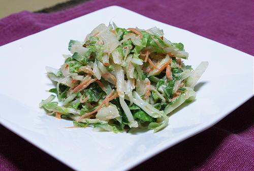 今日のキムチ料理レシピ:白菜のピリ辛マヨサラダ