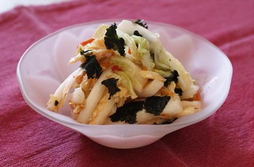白菜とのりのピリ辛和えレシピ