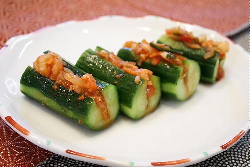 今日のキムチ料理レシピ:白菜キムチdeオイキムチ