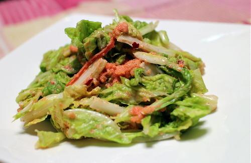 白菜のピリ辛たらこ和えレシピ