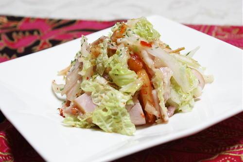 今日のキムチ料理レシピ:白菜と特選カクテキサラダ