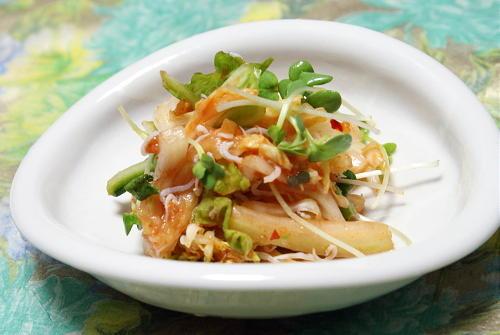 今日のキムチ料理レシピ:白菜の梅キムチ和え