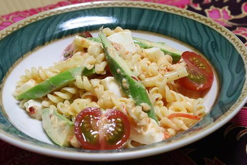 今日のキムチ料理レシピ:キムチパスタサラダ