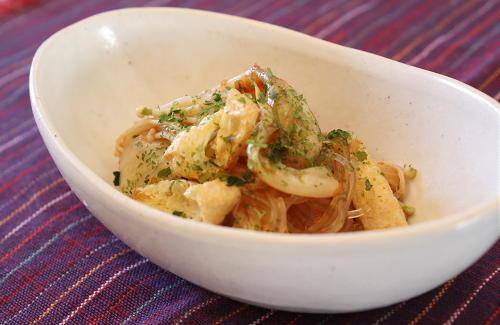 今日のキムチ料理レシピ:春雨とキムチの和え物