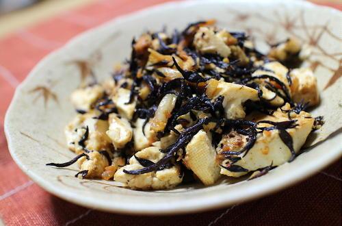 今日のキムチ料理レシピ:ひじきとキムチの入り豆腐