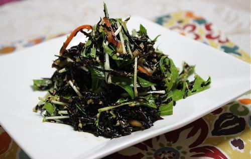 ひじきと水菜のピリ辛サラダレシピ